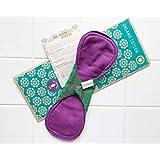 多い日用 南インド「Eco Femme」布ナプキン 洗えるオーガニックコットン(肌面色付き)防水あり・内側に7層のフランネル使用 Day Pad Plus - Vibrant Organic Cloth Sanitary Pads Menstrual Pads