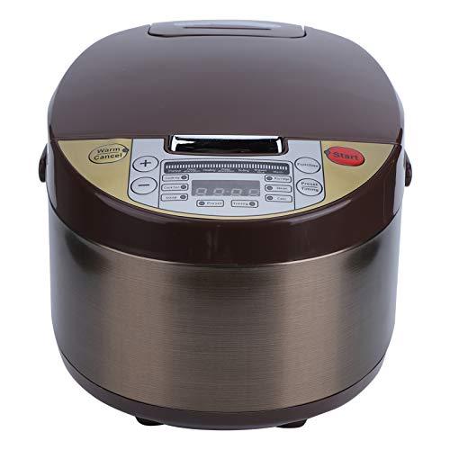 3L Elektrischer Reiskocher, Edelstahl, 500 W, viele Kochprogramme, 24 Stunden Terminfunktion, Temperaturkontrolle, Küchenzubehör (EU 220V)