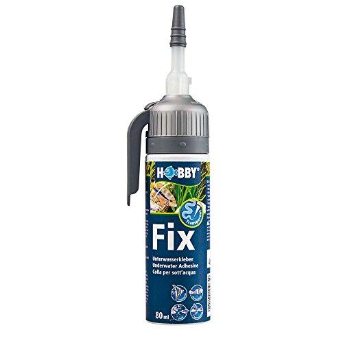 Hobby 11968 Fix Unterwasserkleber, Kartusche, 80 ml, transparent,