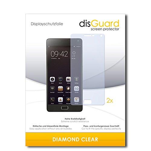 disGuard 2 x Bildschirmschutzfolie Lenovo Vibe P1 Schutzfolie Folie DiamondClear unsichtbar