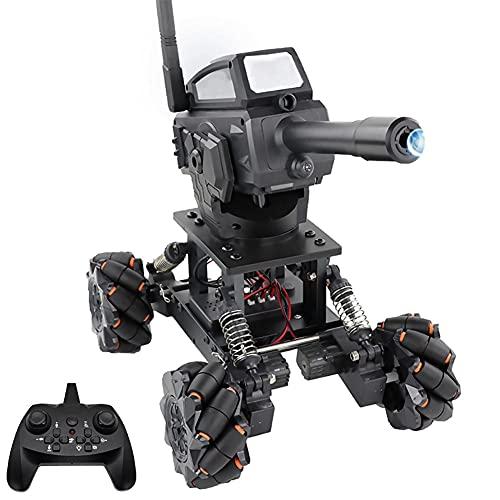 FXQIN RC Coche con Bolas de Agua para niños, Panzer Tanque Vehículo eléctrico Todoterreno Puede lanzar una Bolas de Agua Camión de Control Remoto de 2,4 GHz, Sonido y luz