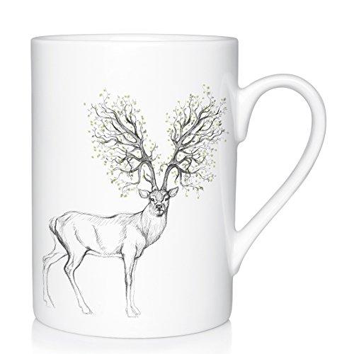We Love Home - Tasse Mug en Porcelaine 25 cl. Style scandinave Design Forest Dreams