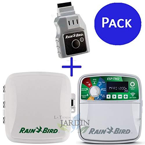 Programador riego Wifi Rain Bird ESP-TM2 8 zonas exterior + LNK. Controla a distancia hasta 4 zonas de riego automático.