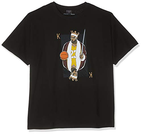 Mister Tee King James LA Camiseta, Negro, Extra-Large para Hombre