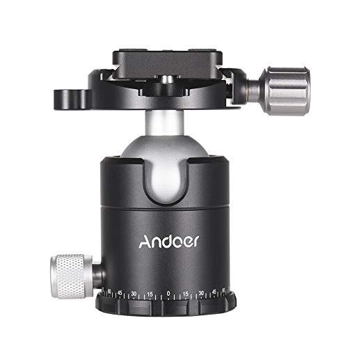 Andoer X-36S Photographic Ball Head Ballhead Tripod Head Monopod Head Aluminium Alloy with Quick Release Plate for Sony Nikon Canon Cameras Camcorder DSLR Max.Load Capacity 15kg /33Lbs