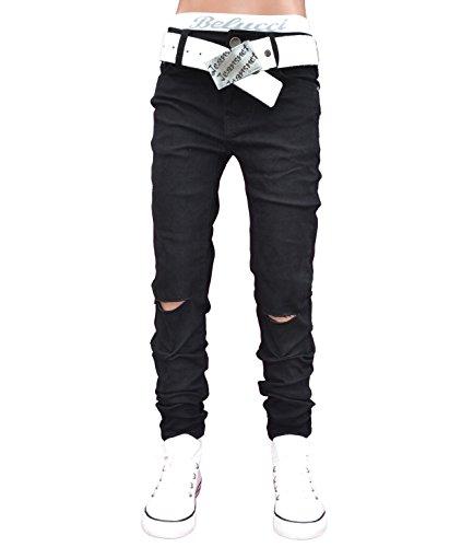 A1807 SQUARED & CUBED Jeans Hose Junge Kinder Skinny schwarz 122-164 (8 (ca.122, Skinny), schwarz)