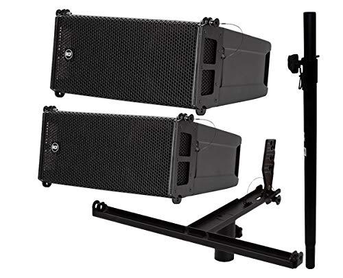 Best Bargain 2X RCF HDL 6-A + Pole Mount Kit + Subwoofer Pole