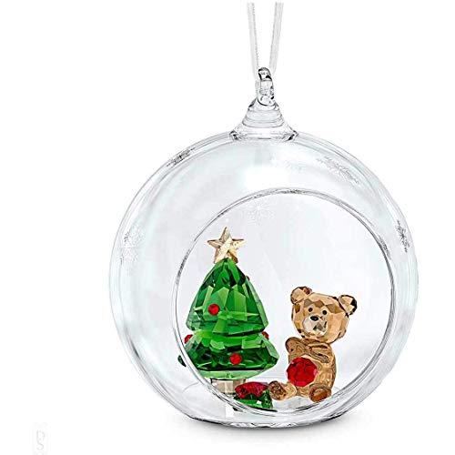 Swarovski Crystal Ornament - Brown/Red/Green - 8.9 x 6.8 x 8 cm