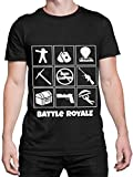 Battle Royale Camiseta para Hombre Gaming Negro Talla X-Large