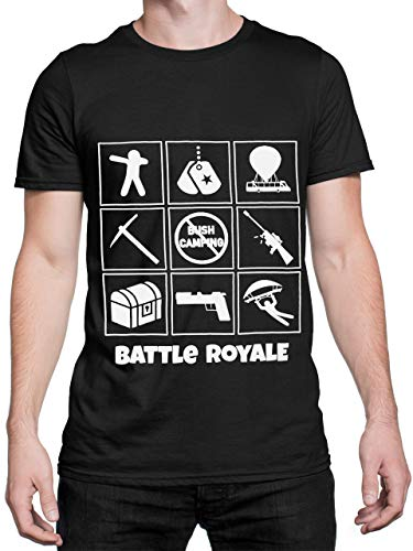 Battle Royale Camiseta Hombre Gaming Negro Talla XX-Large