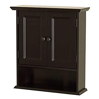 Zenna Home 9918CHA, Collette Wall Cabinet, Espresso