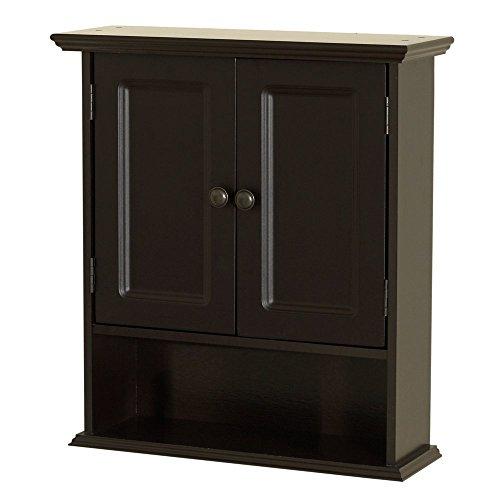 Zenna Home Collette Wall Cabinet, Espresso