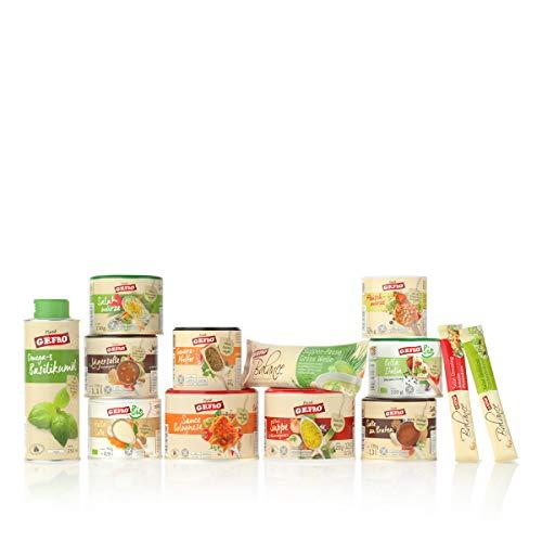 GEFROs Top 10 + 3 Vorteilspaket mit Gewürze, Suppen, Öl, Soßen und Kochbuch