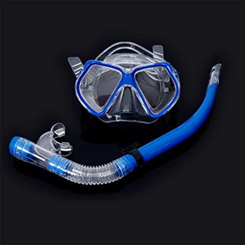 Gafas de buceo de tres piezas para adultos azul