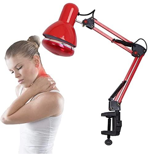 WJQSD Lámpara de Terapia de luz infrarroja Tipo Clip, Lámpara Infrarroja para Termoterapia de Escritorio Lámpara de Calor de Terapia Infrarroja de ángulo Ajustable Tratamiento de atención médica