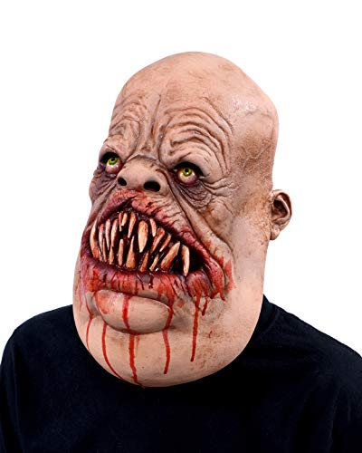 Zagone Meateater Butcher Zombie Monster Mask with Bloody Teeth and Jowls