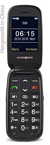 swisstone BBM 615 - GSM Mobiltelefon (6 cm (2,4 Zoll) Farbdisplay, Micro-SD, Kamera/Bluetooth/Notruftaste) schwarz
