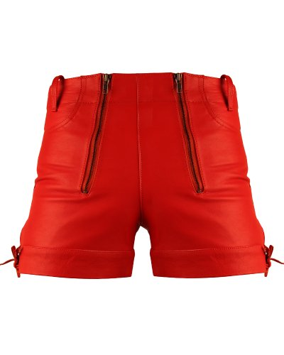 Bockle Kurze Zimmermann Lederhose Leder Short Red Pants, Size: W36/L32