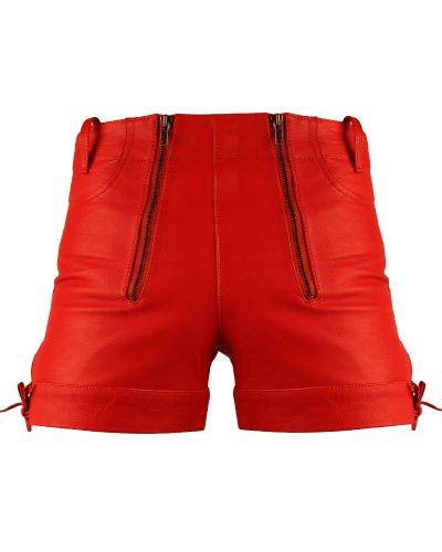 Bockle Kurze Zimmermann Lederhose Leder Short Red Pants, Size: W34/L30