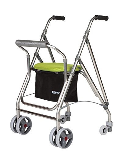 Forta fabricaciones - Andador de 4 ruedas para ancianos Kanguro FORTA - Kanguro, Verde ✅