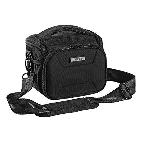 """PEDEA DSLR-Kameratasche \""""Guard\"""" Fototasche für Spiegelreflexkameras mit wasserdichtem Regenschutz, Tragegurt und Zubehörfächern, Gr. L schwarz"""
