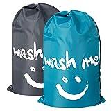 Chrislley 2er-Pack Großer Wäschesack Faltbare Schmutzbeutel Reise Wäschetasche Wäschebeutel für