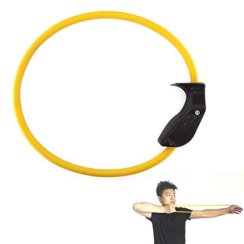 SHARROW Bogenschießen Trainingsgerät 25lbs Arm Krafttraining Band Armstärke Trainer Puller Bogengriff Bow Trainer Exerciser