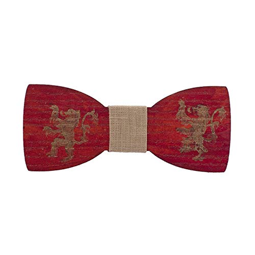 Wooden Acrylic painted red bow tie Emblem House Lannister - Game of Thrones
