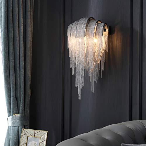 Pointhx Lámpara de pared de cascada moderna, decorativa, G9, 2 luces, hierro, lámpara de noche, salón, pasillo, bar, cocina, isla