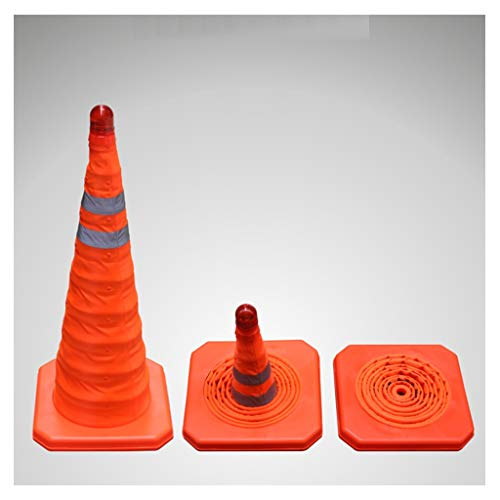 AJZGF Conos señalizacion 70cm Conos de tráfico Plegables Pop-up Conos de Advertencia...