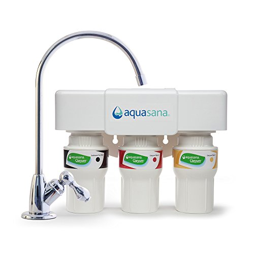 Aquasana AQ-5300.56 3-Stage System with Chrome Faucet under sink water filter