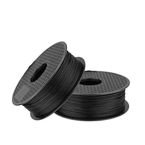 QINGRUI Matériaux d'imprimante Filament d'imprimante 3D 2kg / lot 3D 1.75mm Filament PLA Filament 3D Matière Précision dimensionnelle +/- 0.02mm Facile à façonner (Color : Black 2)