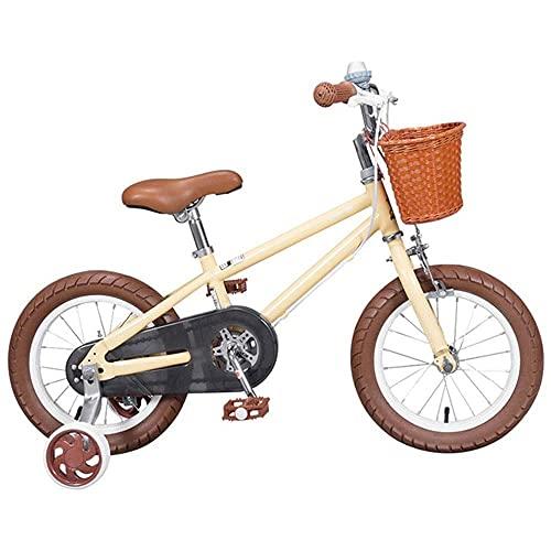 Bicicleta para niños Bicicleta para niños pequeños para niñas y niños de 3 a 8 años, Bicicleta de Entrenamiento para niños con Ruedas auxiliares, 95% ensamblada, en tamaño 14 16