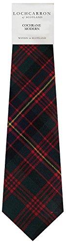I Luv Ltd Gents Neck Tie Cochrane Modern Tartan Lightweight Scottish Clan Tie