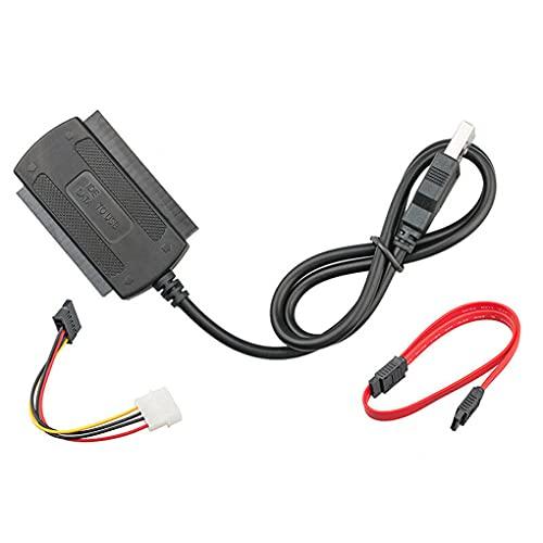 teng hong hui USB A SATA Adaptador Cable SATA Convertidor Cable de Alta Velocidad Convertidor de Disco Duro Cable USB 2.0 a IDE Cable de Datos HDD