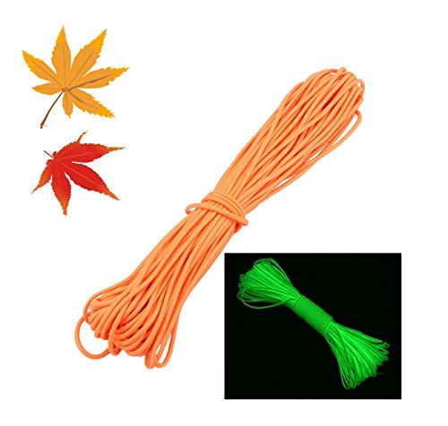 ZJchao - Corda da paracadute a 9 trefoli, fluorescente