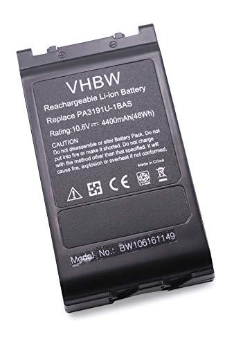 vhbw Akku passend für Toshiba Dynabook SS4000, SS M3, Toshiba Portege 4000 Laptop Notebook - (Li-Ion, 4400mAh, 10.8V, 47.52Wh, schwarz)