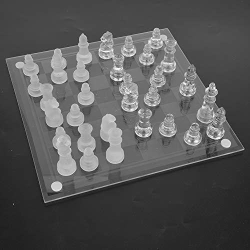 Vbest life Juego de ajedrez de Cristal, Elegante Juego...