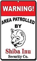 柴犬ノベルティおもしろいメタルサインが警戒区域警戒エリア