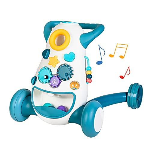 Lauflernwagen, Lauflernhilfe, Spiel- und Laufwagen (Blau), Walker, Gehhilfe für Babys, Gehlernhilfe, Baby Walker, Laufhilfe für Baby, Baby Gehhilfe