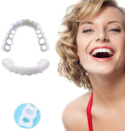 ZYXBJ Zahnersatz Zahnpflege Perfect Smile Dental Cosmetics Simulierte Zahnspangen Obere Zahnspangen Wiederverwendbar und abnehmbar