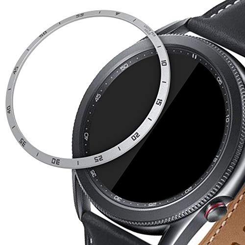 kwmobile Schutzring kompatibel mit Samsung Galaxy Watch 3 (45mm) Fitnesstracker - Bezel Ring Lünette in Silber Schwarz