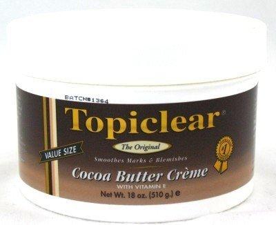 Topiclear Lot de 6 pots de crème au beurre de coco 532 ml
