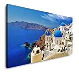 Paul Sinus Art Santorini Stadt Landschaft 120x 60cm