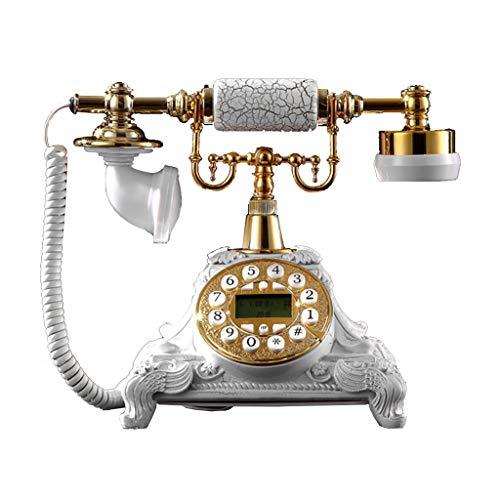 ZARTPMO Teléfono con Botón De Estilo Hogareño Teléfono Fijo Elegante Y Creativo Teléfono Fijo - Teléfono Fijo De Resina Retro