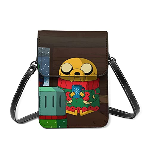 XCNGG Monedero pequeño para teléfono celular Adventure Time Cell Phone Purse Small Crossbody Bag Women Leather Mini Cell Phone Pouch Shoulder Bag to Carry Dexterous Convenience with Adjustable Strap W