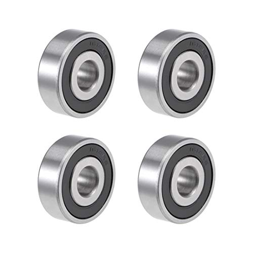 uxcell 1614-2RS Deep Groove Ball Bearing 3/8-inchx1-1/8-inchx3/8-inch Sealed Z2 Lever Bearings 4pcs