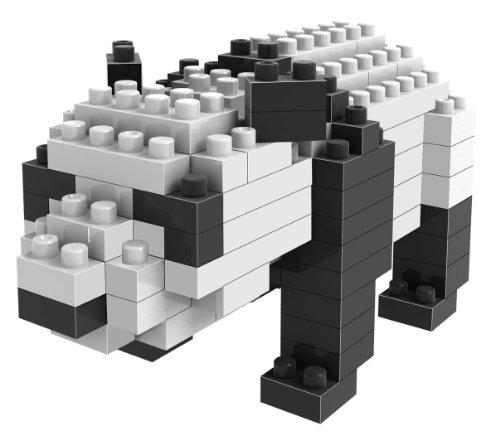Loz Micro Blocks, Panda Model, Small Building Block Set, Nanoblock Compatible (130 pcs), Makes a Great Stocking Stuffer