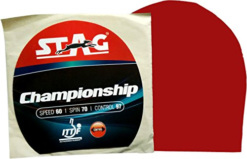 Stag Championship Table Tennis Rubber (Red)