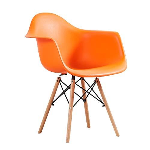 SLY Houten Benen Keukenstoel, For Woonkamer Slaapkamer Keuken Counter Salon Terras Office Household Bureaustoel (Color : Orange)